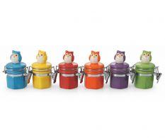 Set 6 recipiente pentru condimente Owl