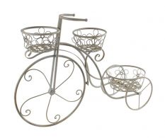 Suport 3 ghivece flori Grey  Bicycle