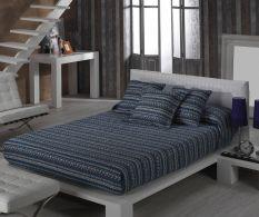Set de pat Inca Azur 200x270cm