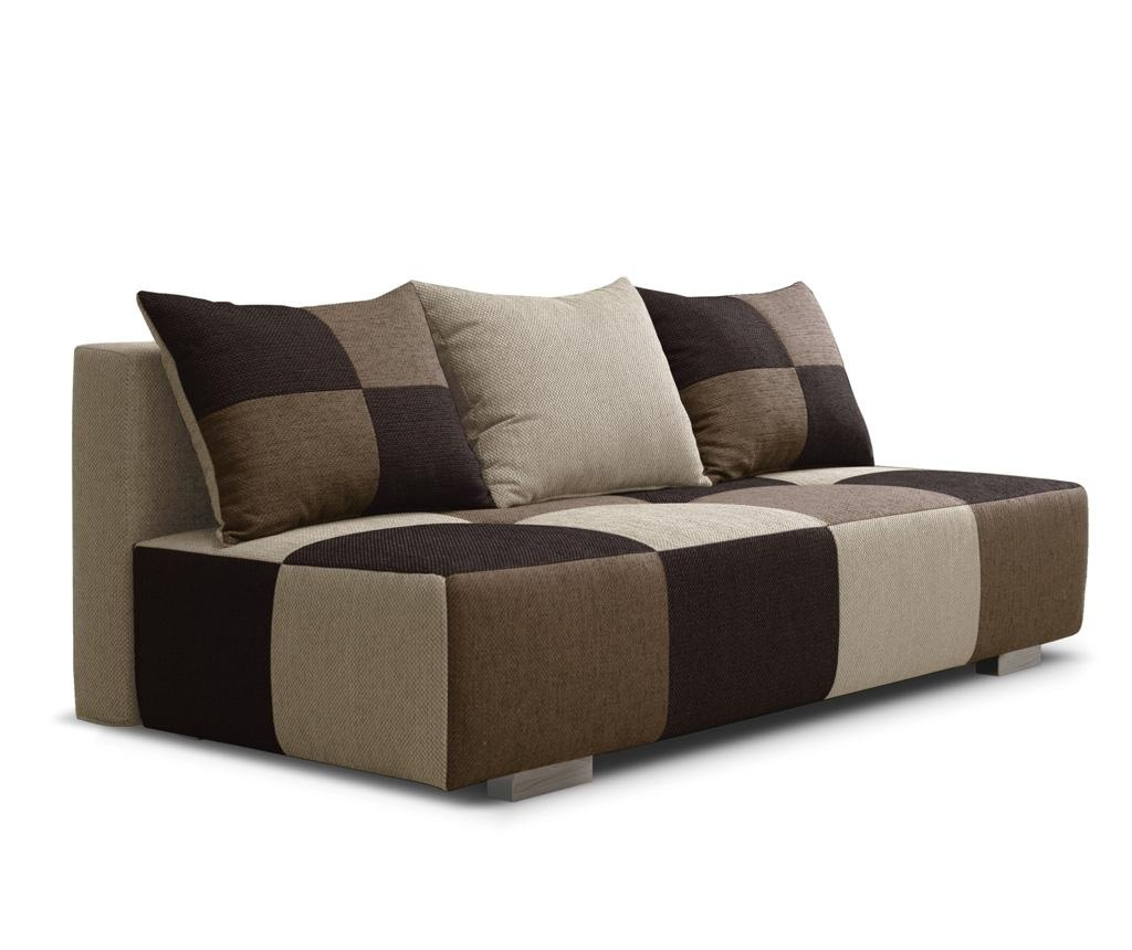 sofa extensibila cu 3 locuri dandy beige brown vivre. Black Bedroom Furniture Sets. Home Design Ideas