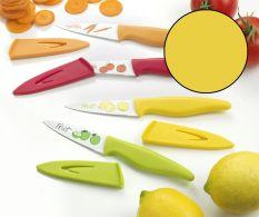 Cutit antiaderent galben Office pentru fructe si legume