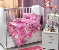 Lenjerie de pat pentru copii Little Sheep Pink