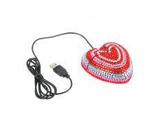 Mouse USB Diamond Heart