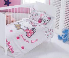 Lenjerie de pat Hello Kitty Ribbon Baby