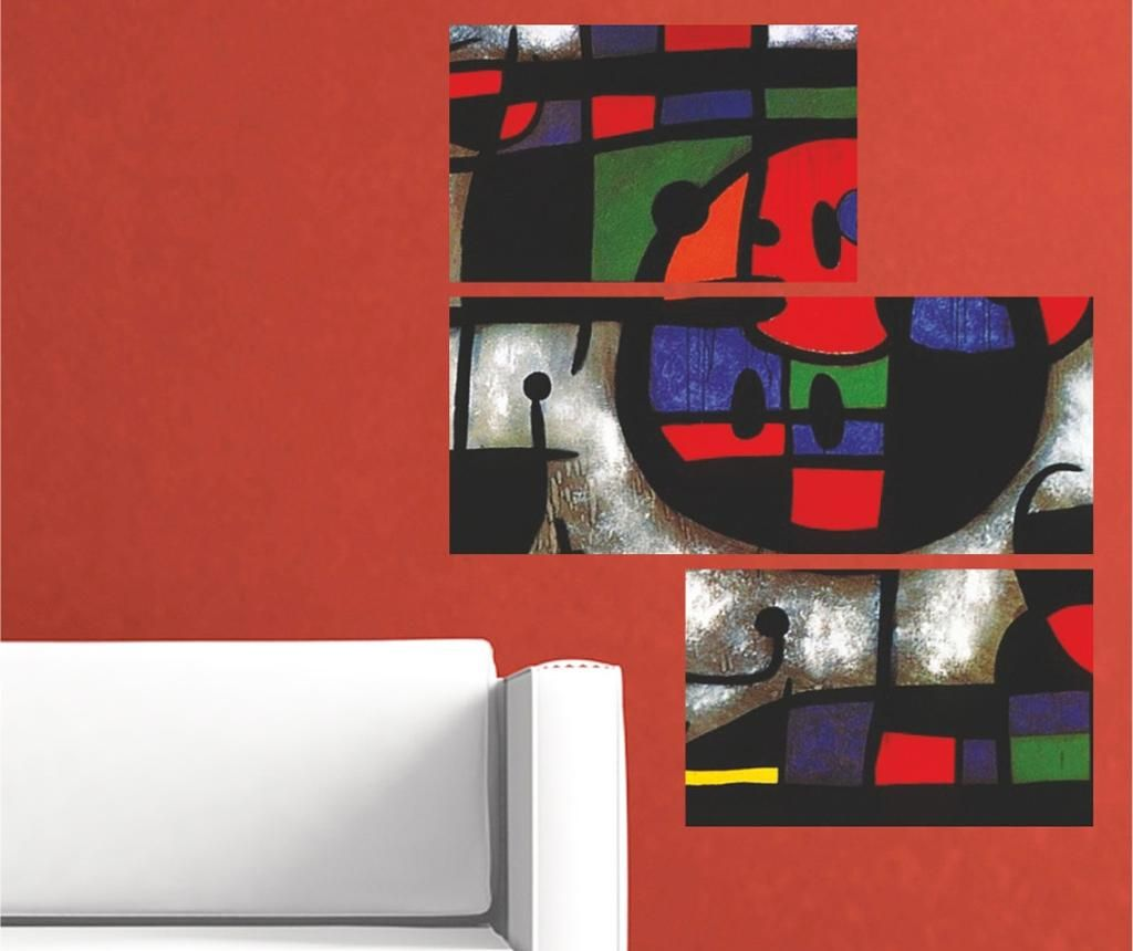 Abstract 3 db Faldekoráció