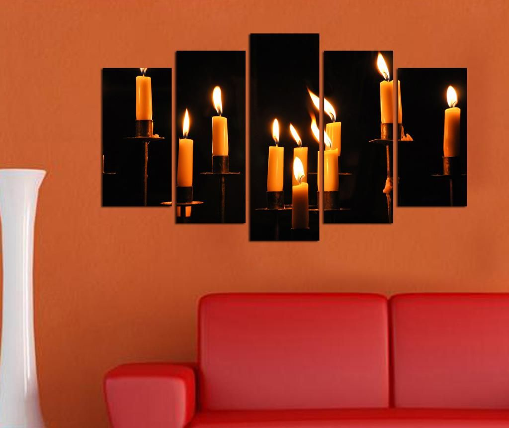 Set 5 tablouri Candles