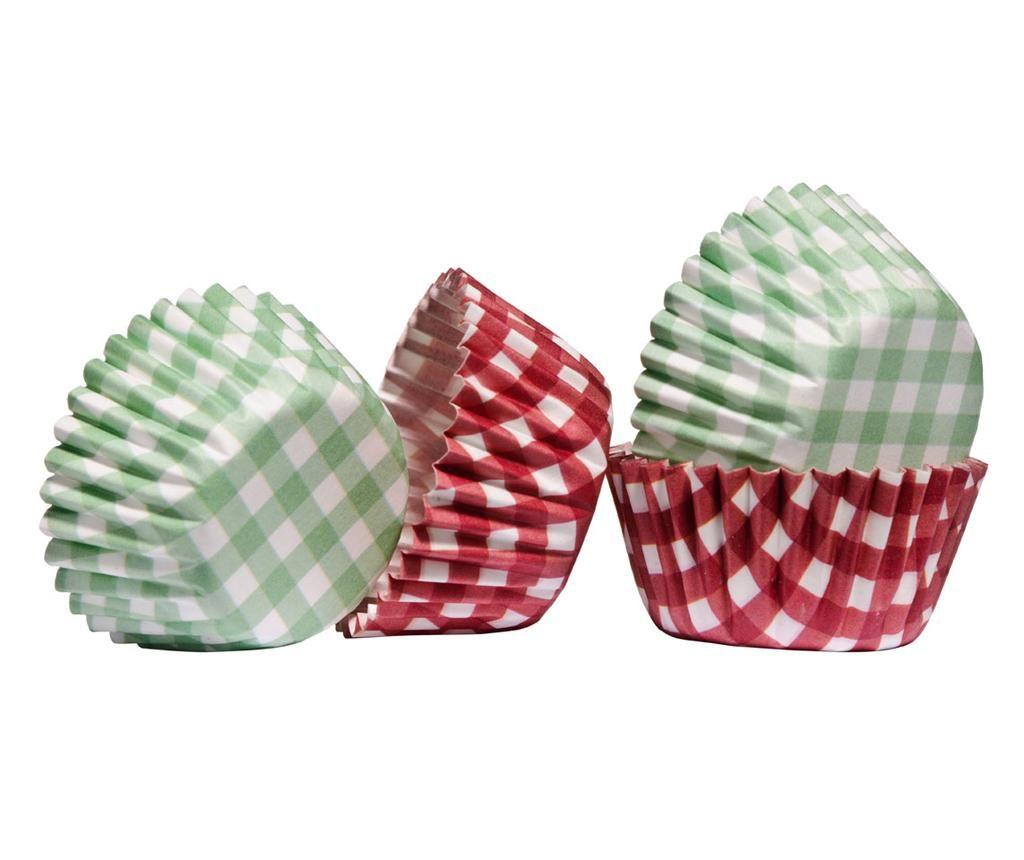 Mini Gingham 100 db Muffin sütőforma