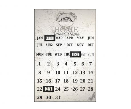 Magnetni kalendar Home Sweet Home