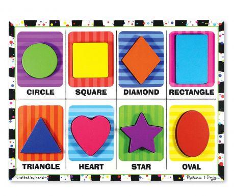 Geometric Shapes 8 darabos Puzzle játék