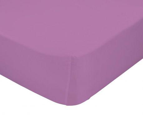 Cearsaf de patut cu elastic Basic Lilac