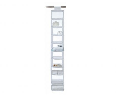 Wardrobe organizer with 10 compartments Top Class White