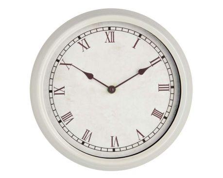 Nástěnné hodiny Rustic White