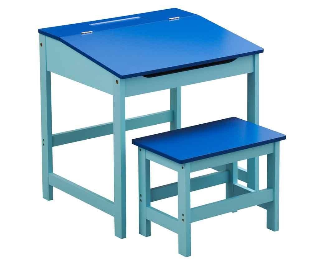 Set otroška pisalna miza in stol Julyan Blue
