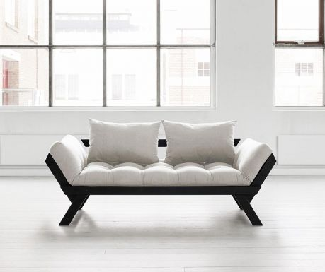 Sofa extensibila Bebop Black and Natural