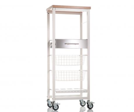 Kuchyňský vozík Onda High White Elm