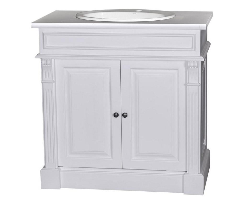 Small Column White Fürdőszobai szekrény lavórral