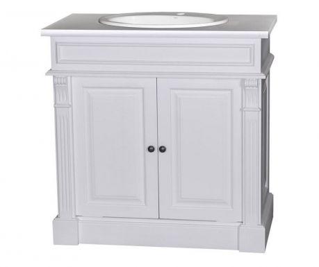 Kúpelňová skrinka s umývadlom Small Column White