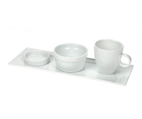 Сервиз 4 части за закуска White