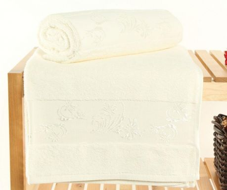 Set 2 prosoape de baie Supima Cream 70x140 cm