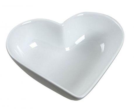 Skleda Heart White