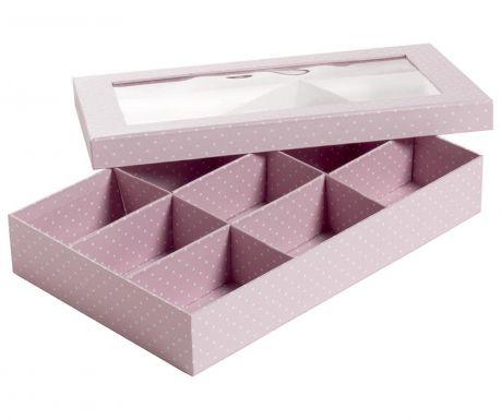 Pudełko z pokrywką Dots Pink