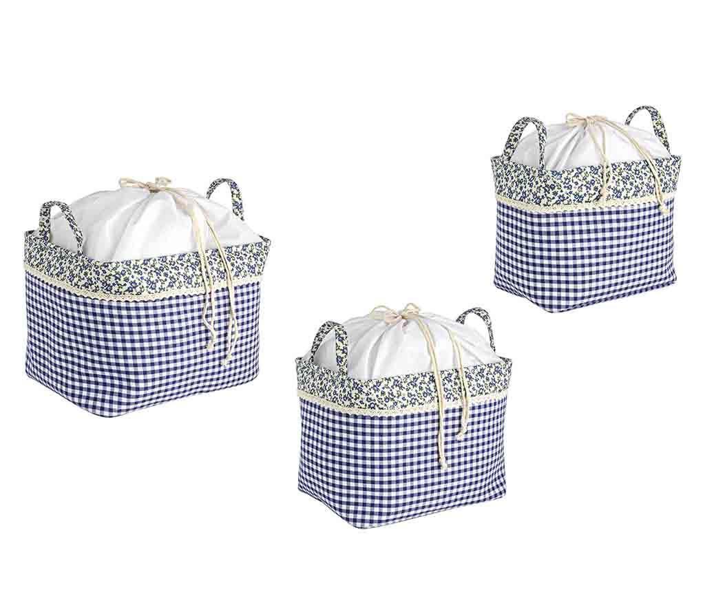 Set 3 košar Madra Blue