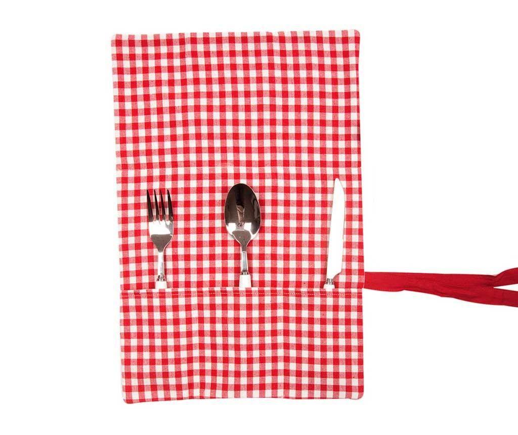 Tekstilni držač za pribor za jelo Checkers
