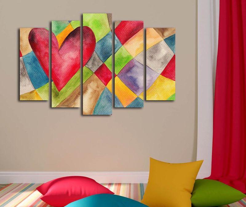 Set 5 slika Heart