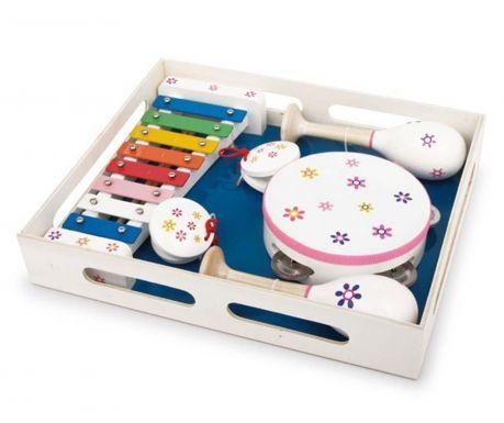 Комплект играчки 6 музикални инструмента Flower