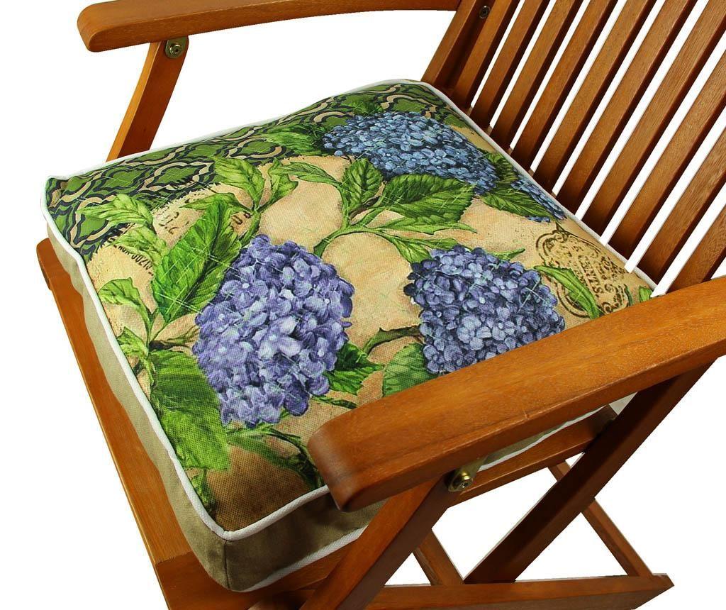 Jastuk za stolicu Little Blue Flowers 42x42 cm