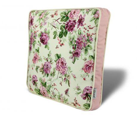 Poduszka na siedzisko Flowers Pink 42x42 cm