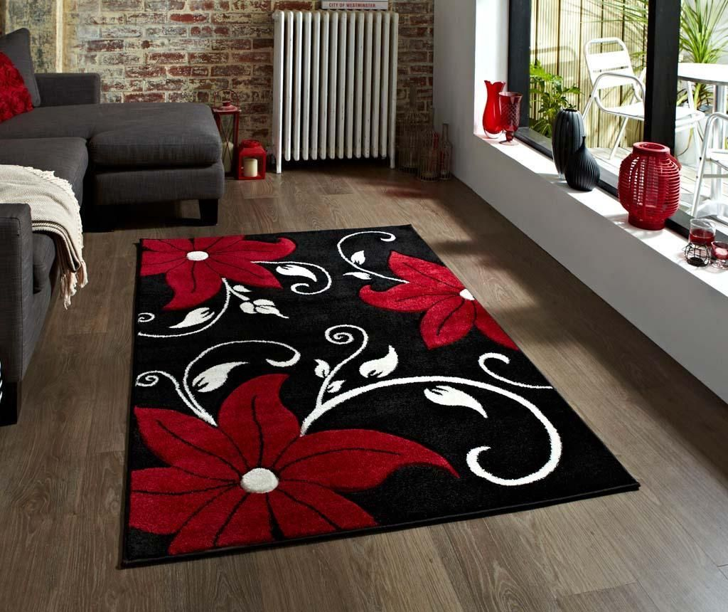 Covor Verona Black and Red 60x225 cm