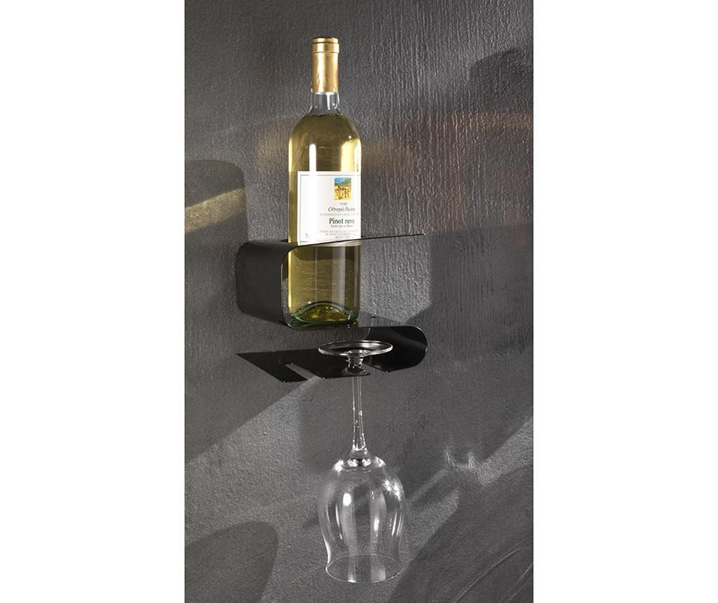 Stalak za boce vina i čaše Osteria Black