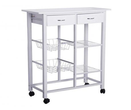 Kuchyňský vozík White Double
