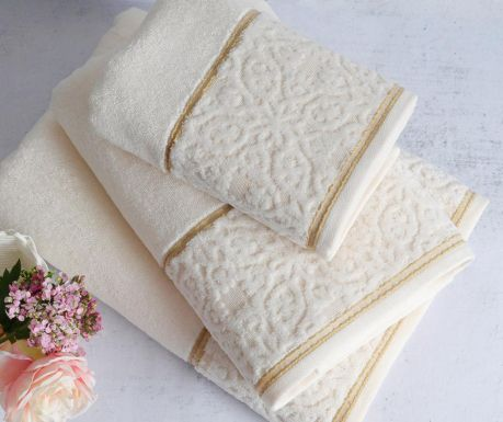 Kopalniška brisača Molly Vanilla 90x150 cm
