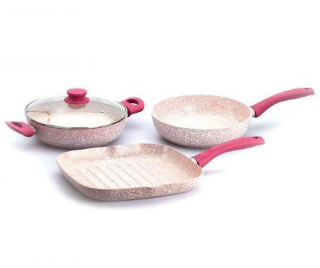 Комплект съдове за готвене 4 части Stonerose Fuchsia