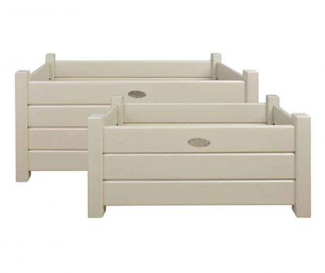 Комплект 2 поставки за сандъчета Lasu White