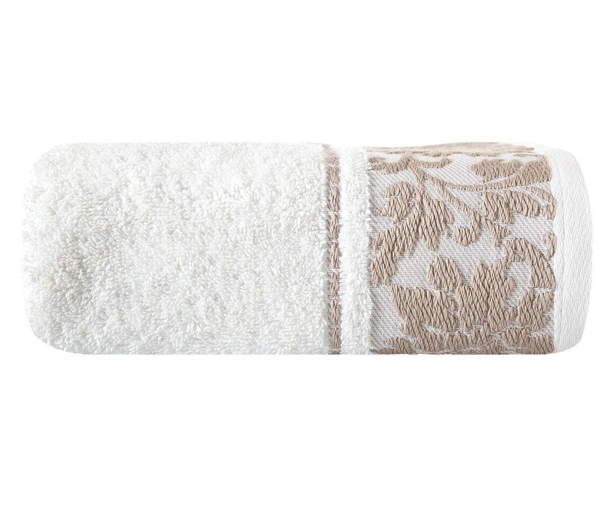 Kopalniška brisača White Agnes 50x90 cm