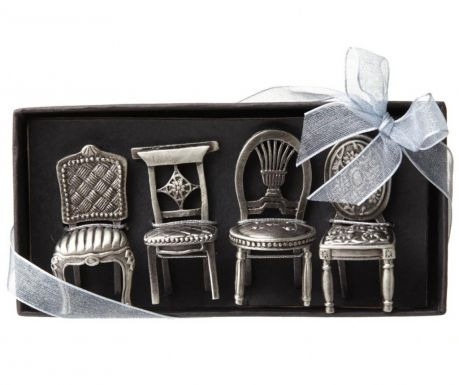 Set of 4 holders for table cards Wedding Chairs