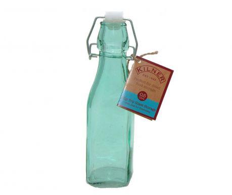 Бутилка с тапа с херметично затваряне Kilner Clip Square Blue 250 мл