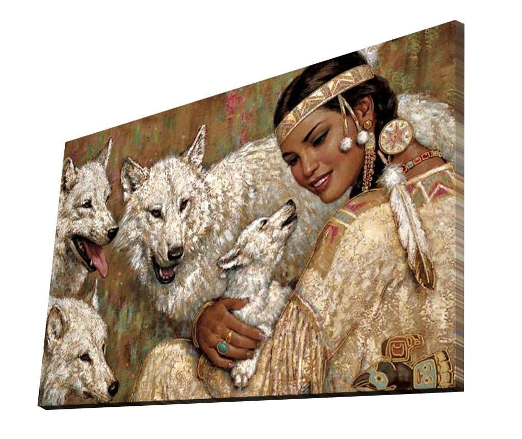 Slika White Wolves 45x70 cm