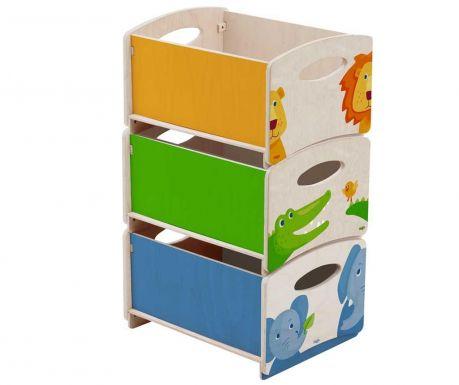 Комплект 3 кутии за съхранение на играчки Zoo