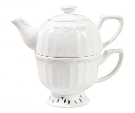 Set of teapot with cover and cup Finny