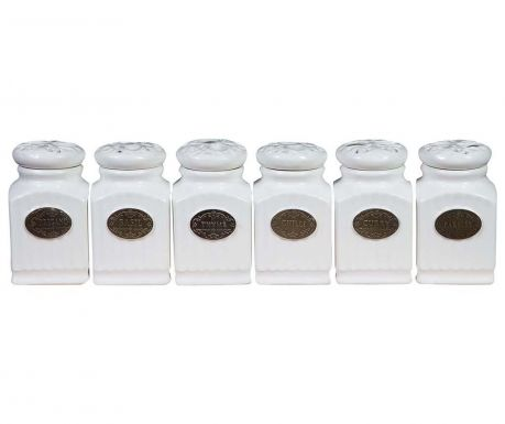 Set of 6 spice canisters Austin