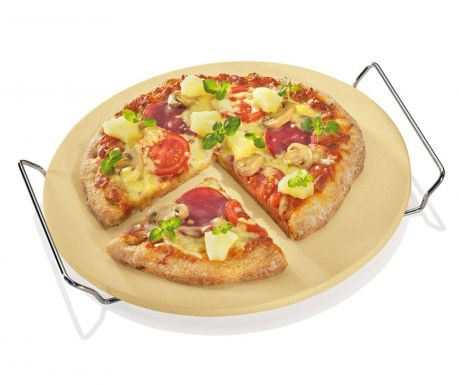 Pizza stone with holder Cook Round