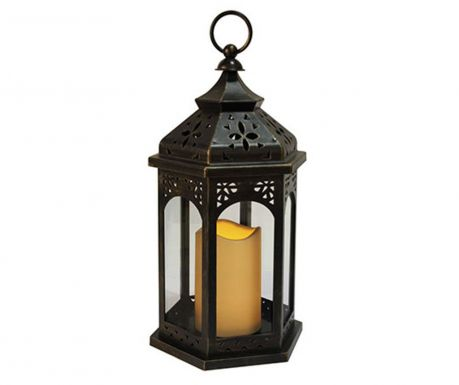 Zewnętrzna latarnia z diodą LED Amber Black