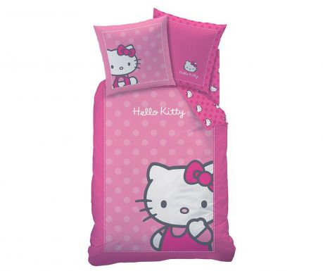 Set de pat Single Ranforce Hello Kitty Camille