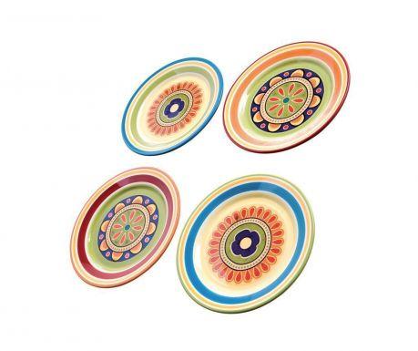 Sada 4 talířů na dezert Dancing Colors