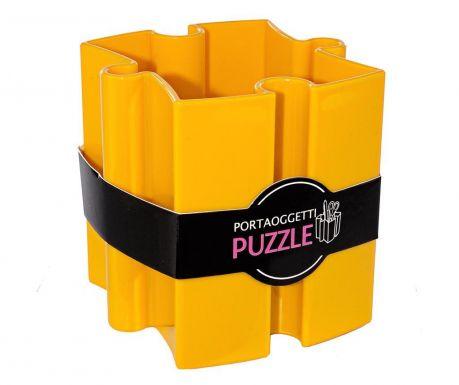 Stojan na propisky Puzzle Yellow