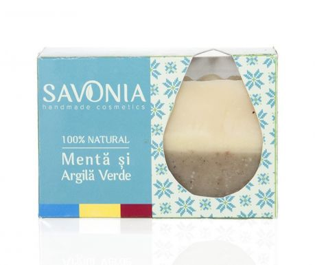 Natural Savonia Szappan mentával és zöld agyaggal 90 g